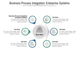 Business Process Integration Enterprise Systems Ppt Powerpoint Presentation Infographic Template Template Cpb
