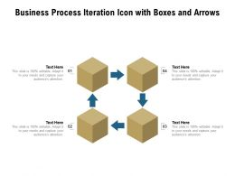 Business Process Iteration Icon With Boxes And Arrows
