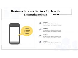 Business Process List In A Circle With Smartphone Icon