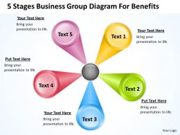 Business Process Management Diagram For Benefits Powerpoint Templates PPT Backgrounds Slides