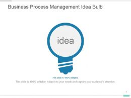 Business Process Management Idea Bulb Powerpoint Template Slide