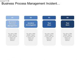 Business Process Management Incident Investigation Public Service Commission