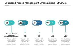 Business Process Management Organizational Structure Ppt Powerpoint Model Cpb