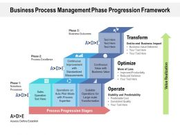 Business Process Management Phase Progression Framework