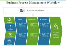 Business Process Management Workflow Powerpoint Slides