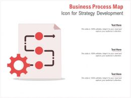 Business Process Map Icon For Strategy Development