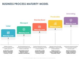 Business Process Maturity Model Ppt Powerpoint Presentation Show Design Ideas