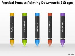 Business Process Model Diagram Downwards 5 Stages Powerpoint Templates PPT Backgrounds For Slides