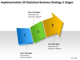 Business Process Model Diagram Strategy 3 Stages Powerpoint Templates PPT Backgrounds For Slides