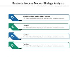 Business Process Models Strategy Analysis Ppt Powerpoint Presentation Model Themes Cpb