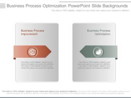Business Process Optimization Powerpoint Slide Backgrounds