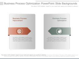 Business Process Optimization Powerpoint Slide Backgrounds