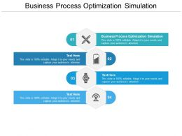 Business Process Optimization Simulation Ppt Powerpoint Presentation Show Cpb