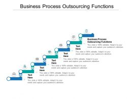 Business Process Outsourcing Functions Ppt Powerpoint Presentation Inspiration Graphics Cpb