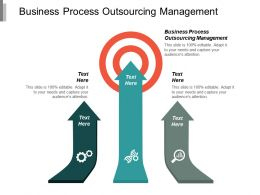 Business Process Outsourcing Management Ppt Powerpoint Presentation Model Deck Cpb