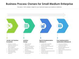 Business Process Owners For Small Medium Enterprise