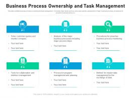 Business Process Ownership And Task Management