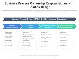 Business Process Ownership Responsibilities With Solution Design