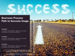 Business Process Path To Success Image