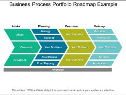 Business Process Portfolio Roadmap Example Powerpoint Show