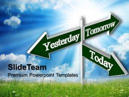 Business Process Presentation Symbols Today Tomorrow Future Signs Success Ppt Theme Powerpoint