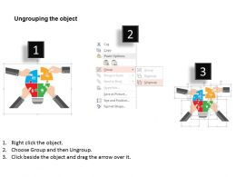 Business Process Puzzle Team Management Flat Powerpoint Design