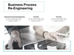 Business Process Re Engineering Ppt Powerpoint Presentation Professional Picture Cpb