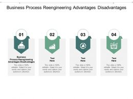Business Process Reengineering Advantages Disadvantages Ppt Powerpoint Presentation Styles Cpb