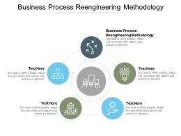 Business Process Reengineering Methodology Ppt Powerpoint Presentation Summary Cpb