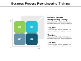 Business Process Reengineering Training Ppt Powerpoint Presentation Slides Cpb