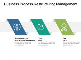 Business Process Restructuring Management Ppt Powerpoint Pictures Cpb