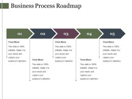 Business Process Roadmap Powerpoint Slide Background Image