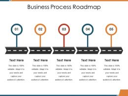 Business Process Roadmap Ppt Shapes