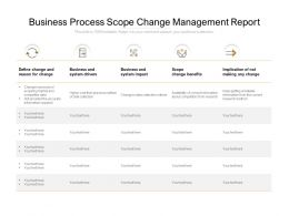 Business Process Scope Change Management Report
