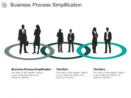 Business Process Simplification Ppt Powerpoint Presentation Pictures Show Cpb