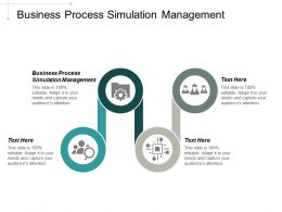 Business Process Simulation Management Ppt Powerpoint Presentation Portfolio Background Designs Cpb