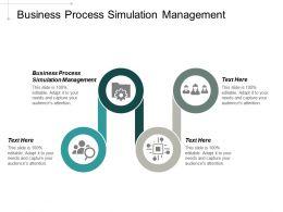 Business Process Simulation Management Ppt Powerpoint Presentation Portfolio Background Designs Cpb