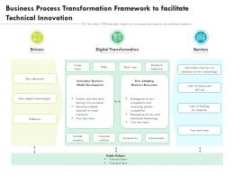 Business Process Transformation Framework To Facilitate Technical Innovation