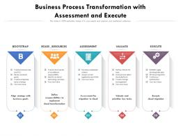 Business Process Transformation With Assessment And Execute