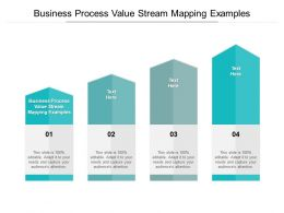 Business Process Value Stream Mapping Examples Ppt Powerpoint Slides Cpb