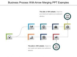 Business Process With Arrow Merging Ppt Examples