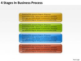 Business Process Workflow Diagram Examples 4 Stages Powerpoint Templates
