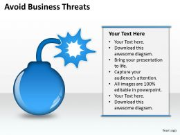 Business Process Workflow Diagram Examples Avoid Threats Powerpoint Slides 0515