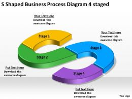 Business Process Workflow Diagram Examples Businesprocesdiagram 4 Staged Powerpoint Templates 0515