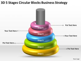 Business Process Workflow Diagram Examples Circular Blocks Strategy Powerpoint Slides