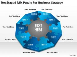 Business Process Workflow Diagram Examples Mix Puzzle For Strategy Powerpoint Templates 0515