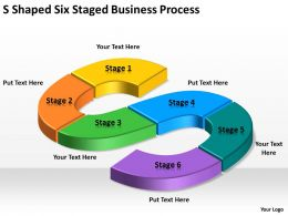 Business Process Workflow Diagram Examples Shaped Six Staged Businesproces Powerpoint Templates 0515