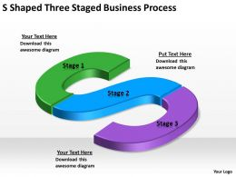 Business Process Workflow Diagram Examples Shaped Three Staged Businesproces Powerpoint Templates 0515