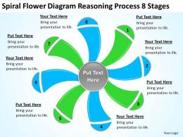 Business Process Workflow Diagram Flower Reasoning 8 Stages Powerpoint Templates