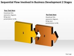 Business Process Workflow Diagram Involved Development 2 Stages Powerpoint Templates